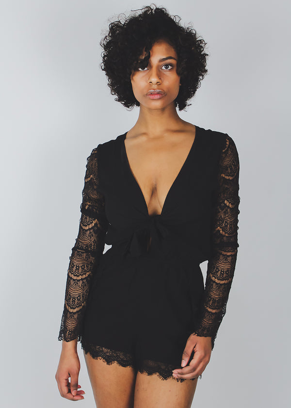 *Black Lace Romper | Last One
