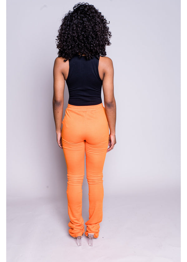 *Stacked Joggers | Orange