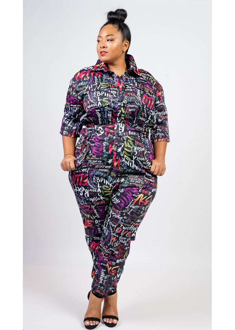 Funky Groove Jumpsuit | Curvy
