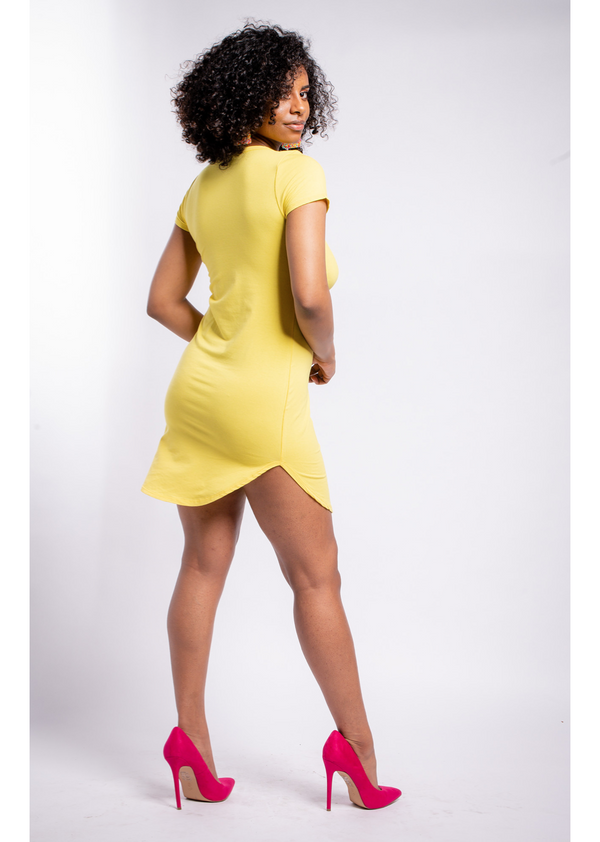 *T-Shirt Dress | Yellow