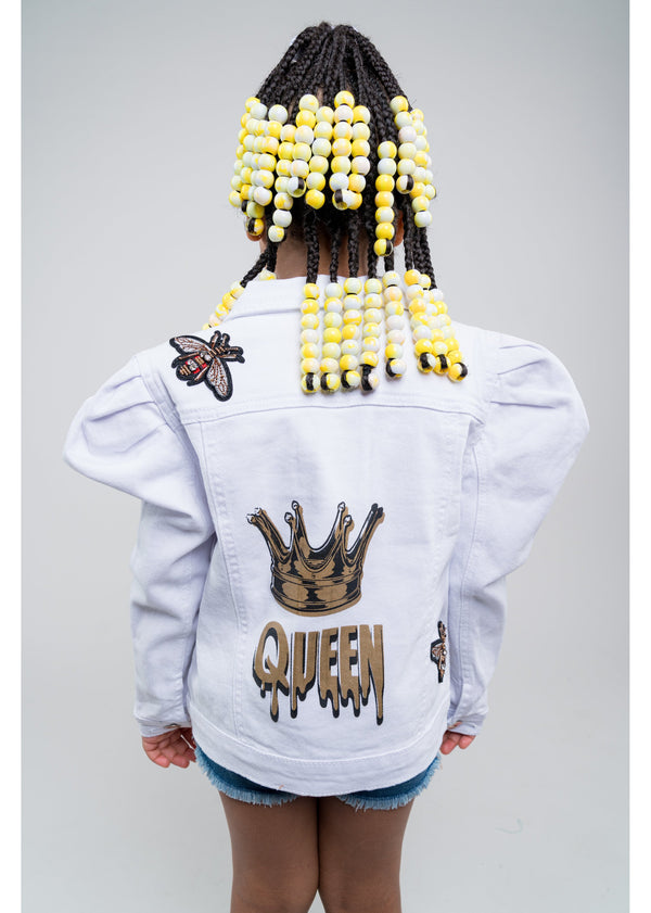 *Queen B Jacket | Kids | White