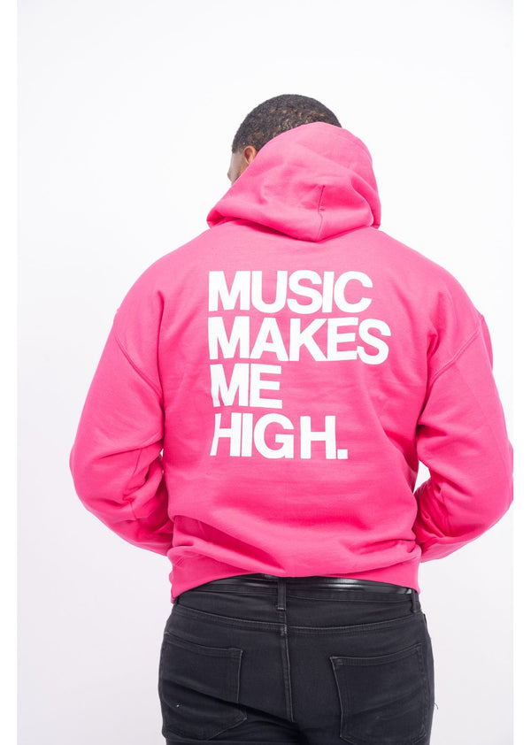 *Music Makes Me High Sweatshirt | Pink