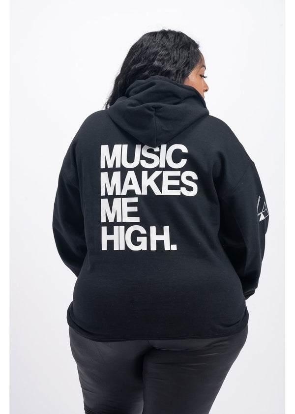 *Music Makes Me High Sweatshirt | Black