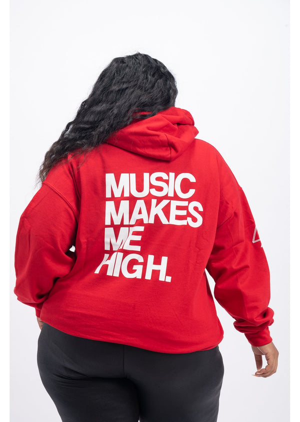 *Music Makes Me High Sweatshirt | Red
