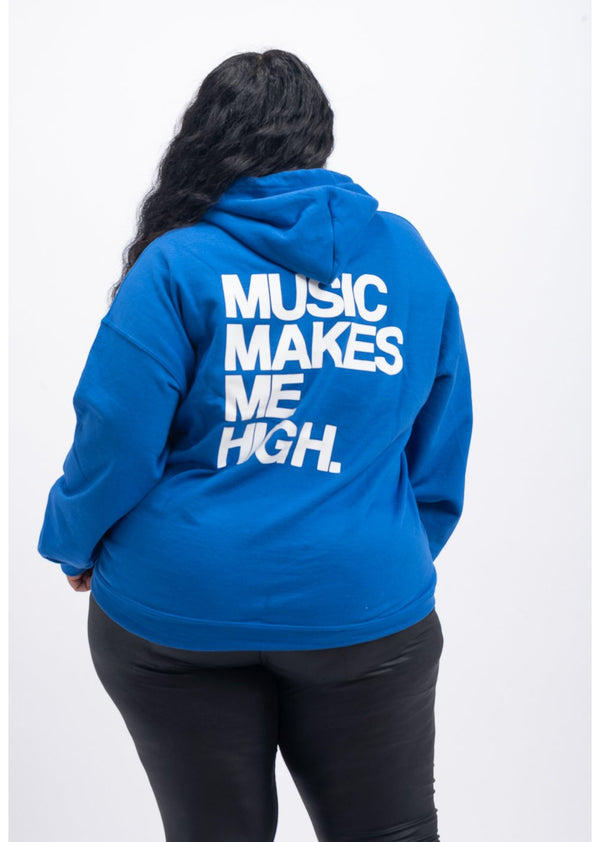 *Music Makes Me High Sweatshirt | Blue