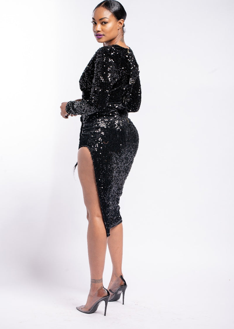 *I Don't Mind Black Sequin Dress | LAST ONE