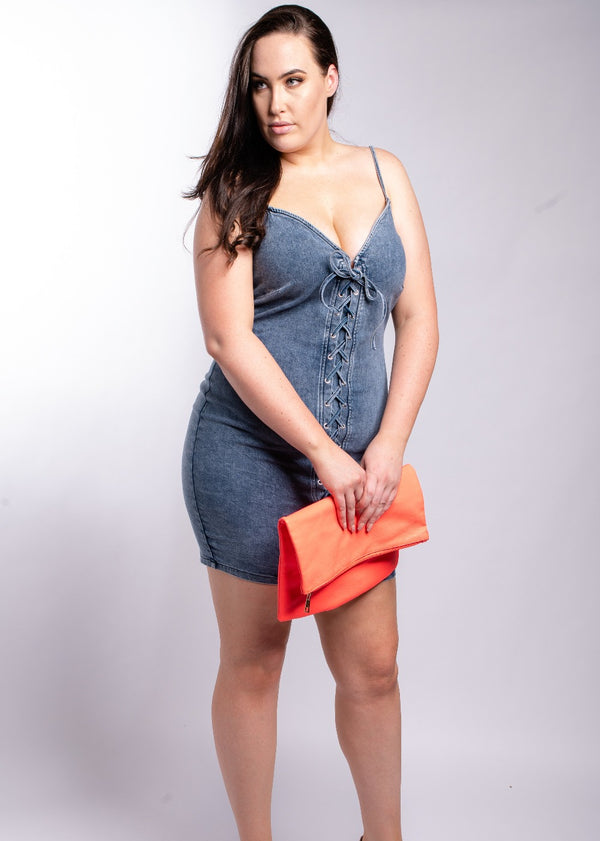 *Feeling Myself Denim Dress