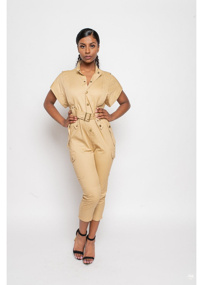 *A Work Of Art Jumpsuit | Tan