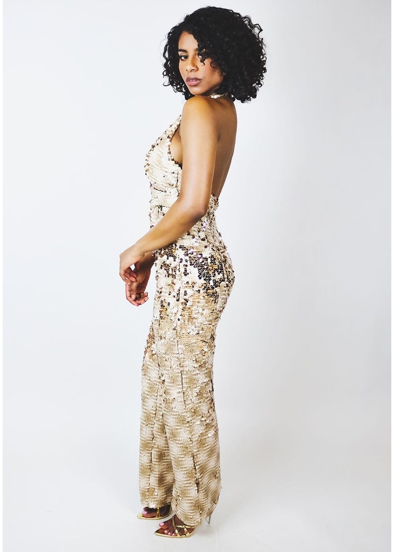 *Gold Sequin Jumpsuit