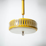 1960s YELLOW METAL PULLEY LAMP