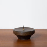LARGE MID CENTURY MODERN CERAMIC CANDLE HOLDER