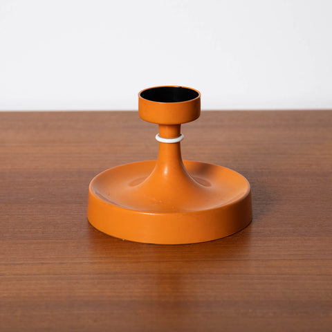 1960s ORANGE PLASTIC CANDLE HOLDER