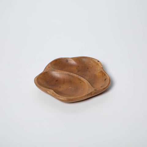 WOODEN FLOWER SHAPED SMALL TRAY