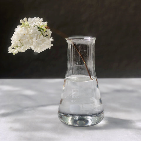 VINTAGE CHEMISTRY CLEAR GLASS VESSEL / LABORATORY GLASSWARE