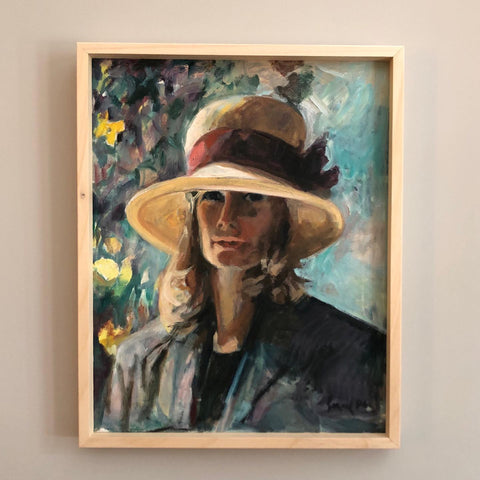 1970S OIL ON CANVAS PORTRAIT OF A LADY