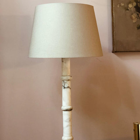 VINTAGE 1930s TALL MARBLE FLOOR LAMP