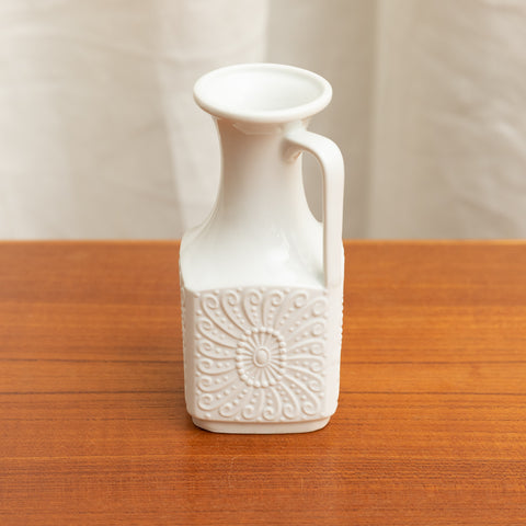 ROYAL BAVARIA SMALL MATTE AND GLAZED PITCHER VASE