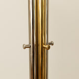 CHROME AND BRASS MODERNIST COAT HANGER
