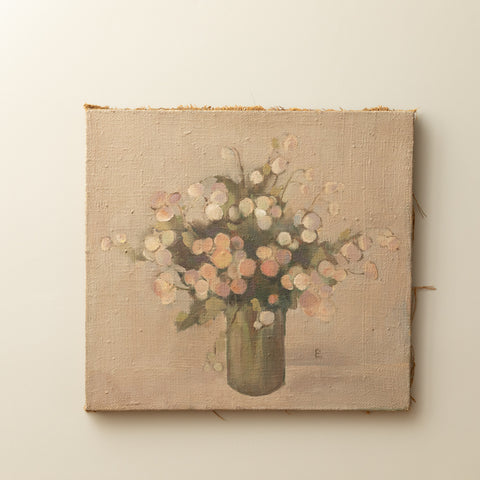 IMPRESSIONIST PASTEL STILL LIFE WITH FLOWERS