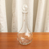 VINTAGE CLEAR GLASS SPIRITS BOTTLE