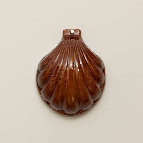 WALL DECO CERAMIC SCALLOP