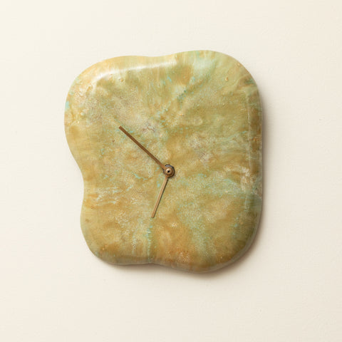 GLAZED CERAMIC CLOCK