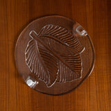 CLEAR GLASS EMBOSSED SERVING PLATE PLATTER