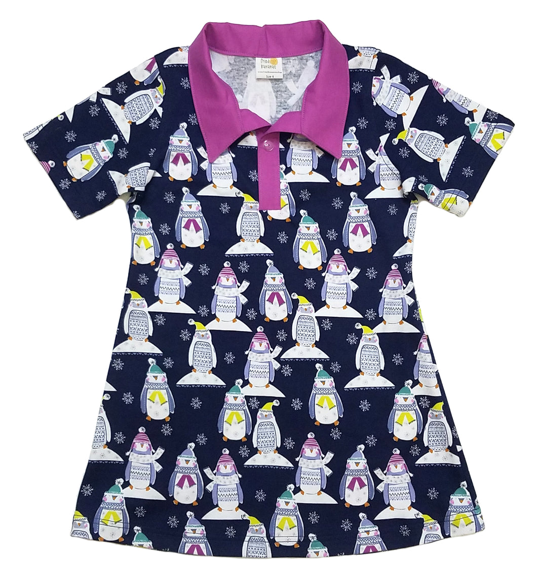 Polo Dress, Short sleeve, penguins