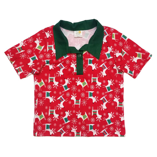 Polo Shirt, short sleeve, reindeer