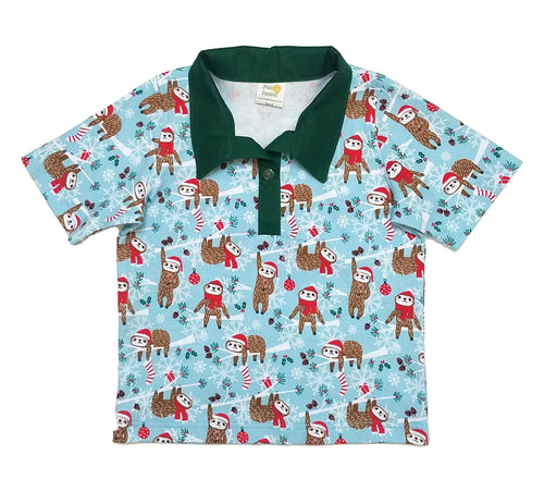 Polo Shirt, short sleeve, sloths