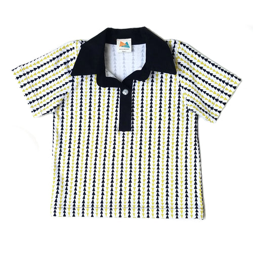 Boys Polo Shirt, Triangle Stripe, organic
