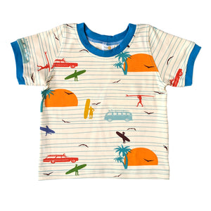 Ringer T-Shirt, Surfers, organic cotton