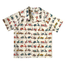 Snap-up dress shirt, scooters, organic cotton