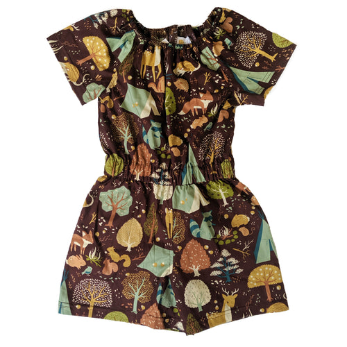 Short Sleeve Romper, Camping, Organic cotton