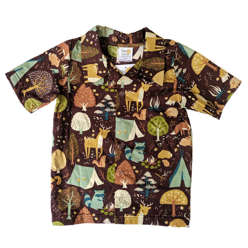 Snap-up dress shirt, Camping, organic cotton