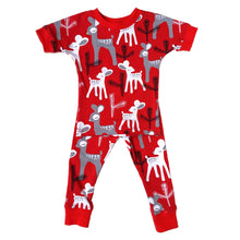 Organic Cotton Pajamas, Red Deer
