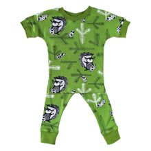 Organic Cotton Pajamas, Green Squirrel