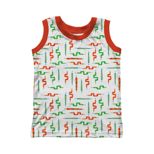 Sleeveless T-shirt, Snakes