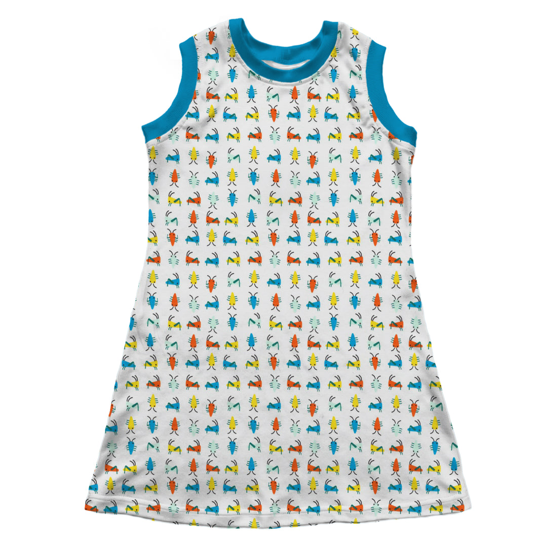 Sleeveless T-Shirt Dress, Bugs