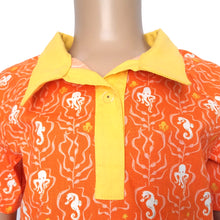 Boys Polo Shirt Close, Sea Life on orange