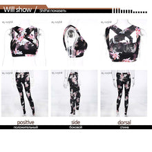 Load image into Gallery viewer, Floral Print Yoga Pants