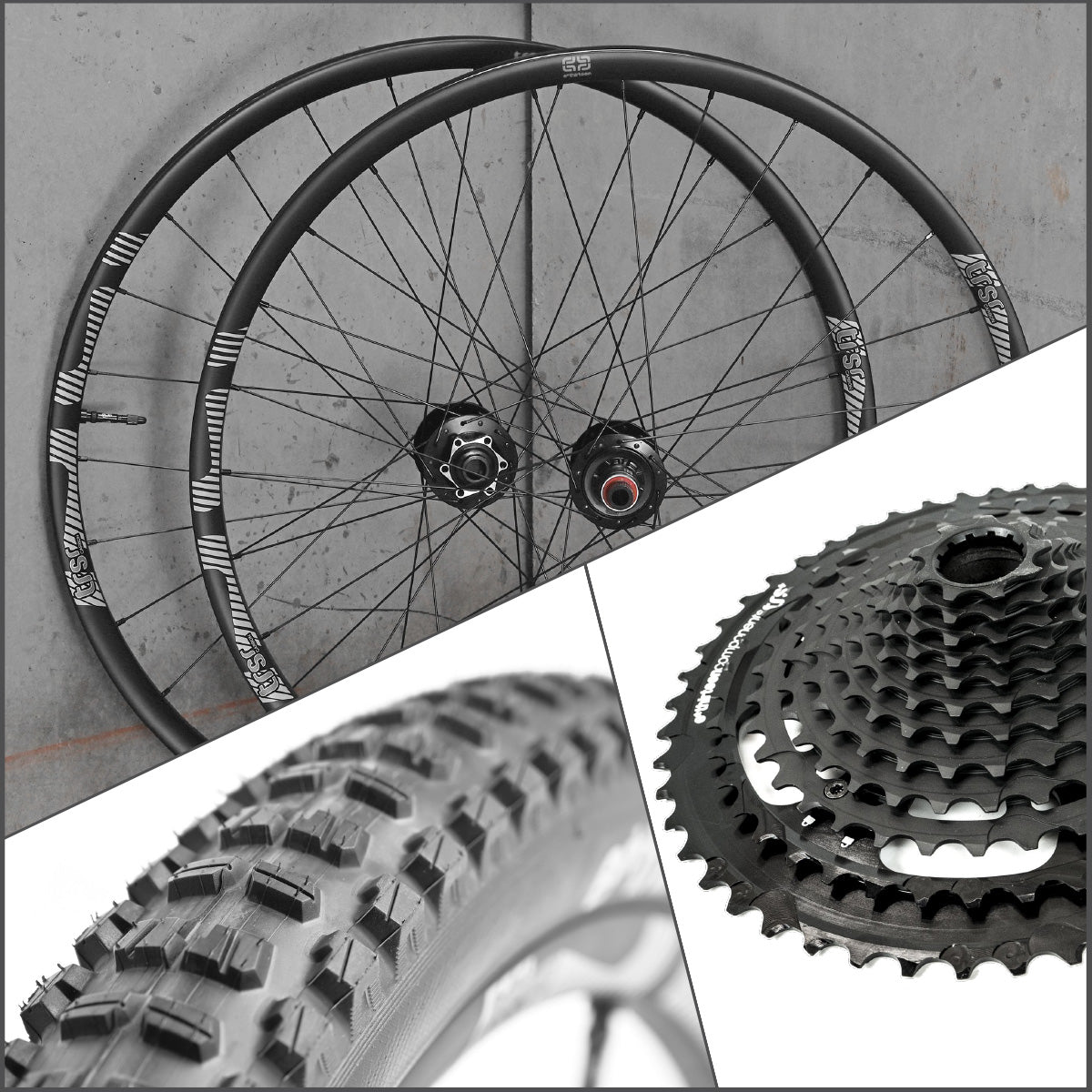 TRSr 27.5 Carbon Wheel/Tire/Cassette Bundle