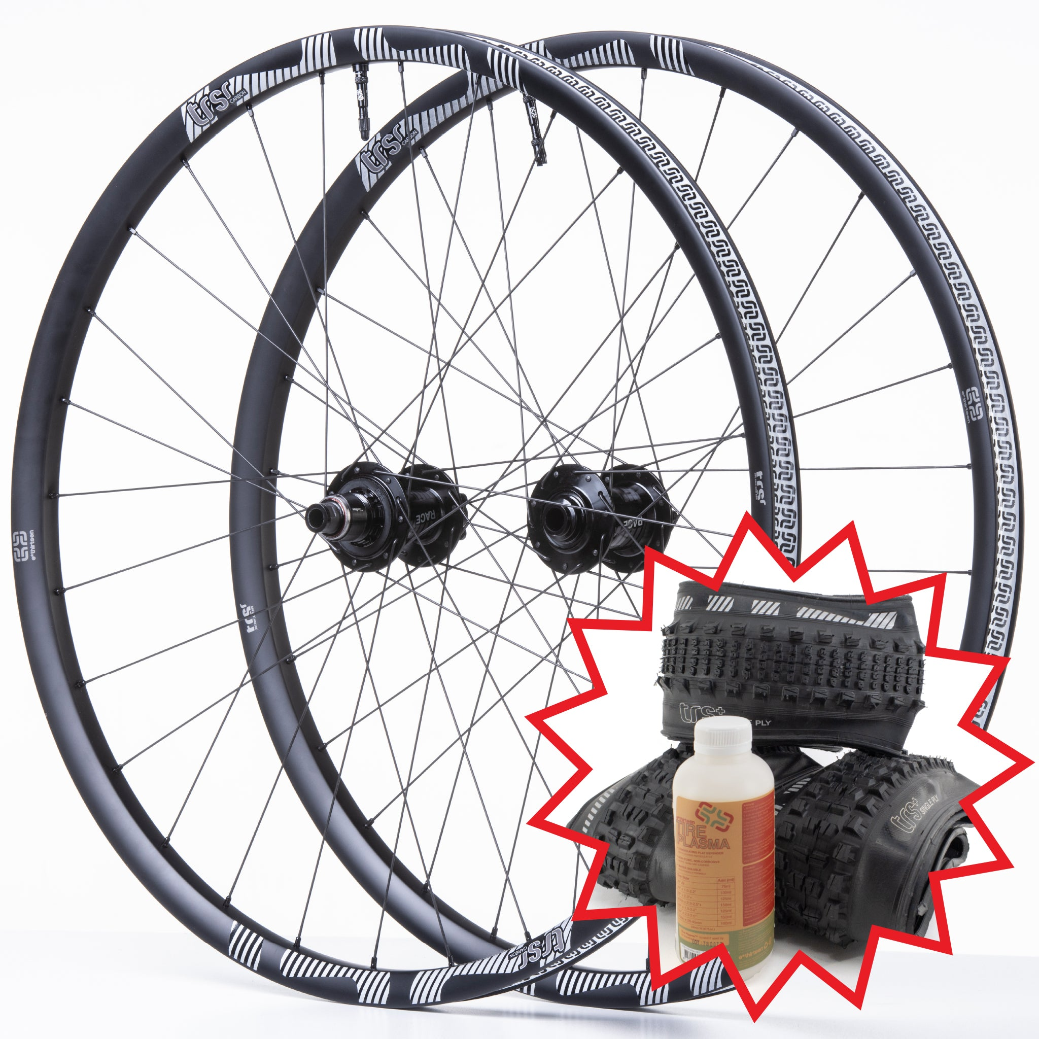 TRS Race Carbon Trail Wheel / 3-Tire / Sealant Bundle