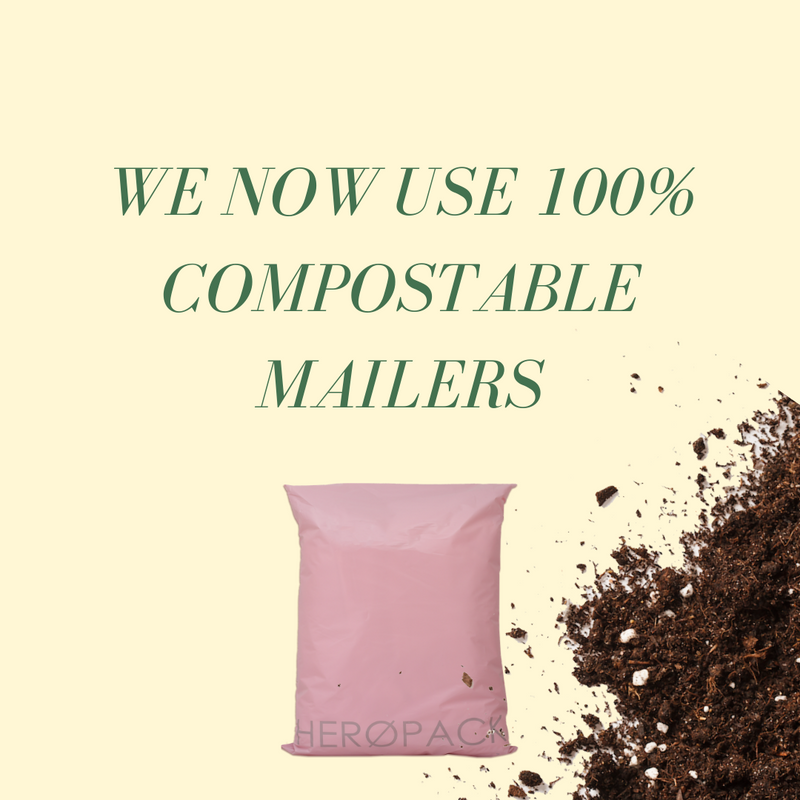 Hero Packaging - 100% compostable mailing bags