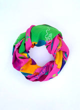 Abstract biology scarf / colourful abstract clothing print / pink scarf