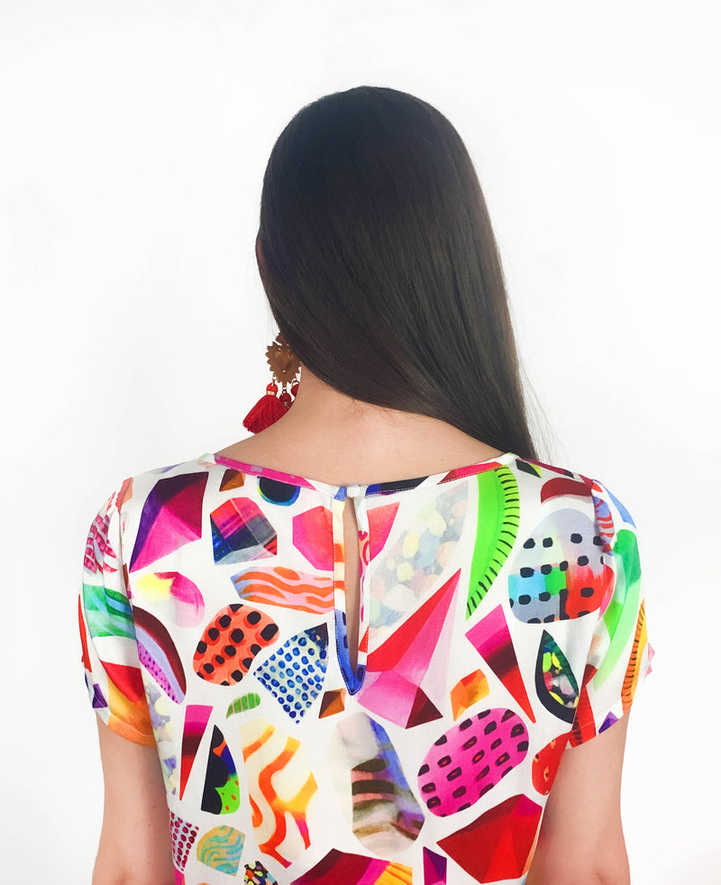 Confetti & Gems Top - Strebor Clothing / colourful clothing brand