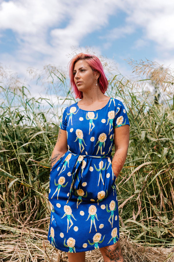 dancing daisies dress with pockets/ Colourful quirky fashion brand / Australian fashion