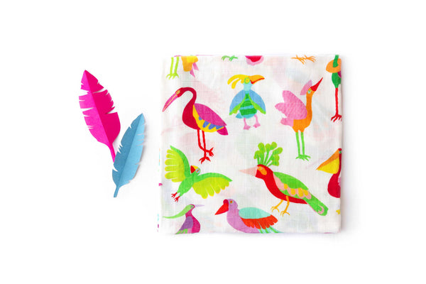Nest Swaddle - colourful baby swaddles - bird print
