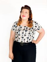 Polka Dot Pupil Top - Strebor Clothing - size inclusive fashion