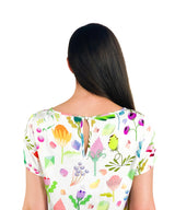 Wild Flowers Top - Strebor Clothing - colourful fashion